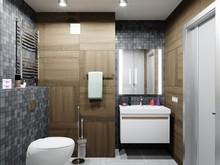 Квартира «Двухкомнатная Амбиции и мечты», ванная . Фото № 29475, автор Романов Олег