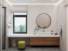 Квартира «Дом в Химках», ванная . Фото № 29491, автор GEOMETRIUM