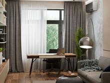 Квартира «Дом в Химках», кабинет . Фото № 29495, автор GEOMETRIUM