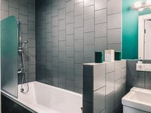 Квартира «ЖК Ломоносовский ( 51.4 м2), Москва», ванная . Фото № 29523, автор Идея Плюс