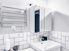 Квартира «Квартира в скандинавском стиле: максимум света и пространства», ванная . Фото № 29545, автор Идея Плюс