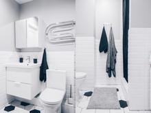 Квартира «ЖК Квартал 21/19», ванная . Фото № 29567, автор Идея Плюс
