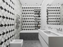 Квартира «Квартира на Садовом кольце», ванная . Фото № 29586, автор Крылова Татьяна