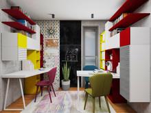 Квартира «2-х этажная квартира с открытой террасой в Барселоне», детская . Фото № 29615, автор Крылова Татьяна