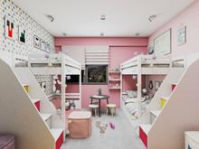 Квартира «2-х этажная квартира с открытой террасой в Барселоне», детская . Фото № 29616, автор Крылова Татьяна