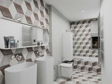 Квартира «2-х этажная квартира с открытой террасой в Барселоне», ванная . Фото № 29619, автор Крылова Татьяна