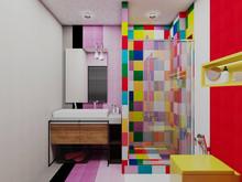 Квартира «2-х этажная квартира с открытой террасой в Барселоне», ванная . Фото № 29620, автор Крылова Татьяна