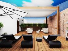 Квартира «2-х этажная квартира с открытой террасой в Барселоне», веранда лоджия . Фото № 29621, автор Крылова Татьяна