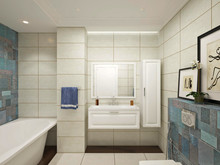 Квартира «Семейная идиллия», ванная . Фото № 29663, автор Хачатурова Галина