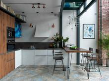 Квартира «TriBeCa в Москве», кухня . Фото № 29665, автор Рынденкин  Сергей