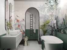 Квартира «Просторная квартира в ЖК Платинум», ванная . Фото № 29676, автор Смышляева Ирина