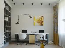 Квартира «Просторная квартира в ЖК Платинум», кабинет . Фото № 29679, автор Смышляева Ирина