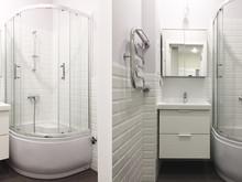 Квартира «Солнечная Скандинавия: квартира на Фрунзенской», ванная . Фото № 29699, автор Идея Плюс