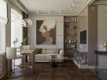 Квартира «Квартира на Васильевском острове», гостиная . Фото № 29714, автор Смышляева Ирина
