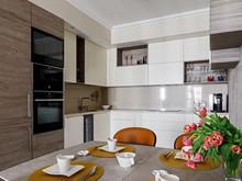 Квартира «В ритме города», кухня . Фото № 29800, автор Бизюкова Марина