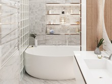 Квартира «Современная квартира для молодой семьи», ванная . Фото № 29857, автор Зорина Анастасия