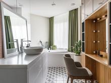Квартира «Интерьер квартиры в Москве», ванная . Фото № 29902, автор Chado Архитектурная студия