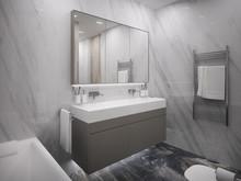 Квартира «Двухэтажная квартира в ЖК Литератор B», ванная . Фото № 29949, автор Качалов Иван