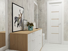 Квартира «Квартира для молодой художницы», прихожая . Фото № 30012, автор Тарасова Анастасия
