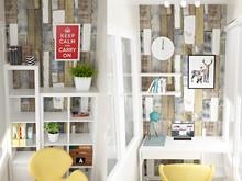 Квартира «Квартира для молодой художницы», веранда лоджия . Фото № 30013, автор Тарасова Анастасия