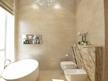 Квартира «Квартира в ЖК Грюнвальд», ванная . Фото № 30102, автор Качалов Иван