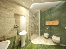 Квартира «Квартира на Фрунзенской набережной», ванная . Фото № 30117, автор Качалов Иван