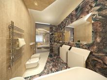 Квартира «Квартира на Фрунзенской набережной», ванная . Фото № 30122, автор Качалов Иван