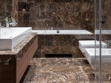 Квартира «Двухэтажная квартира в ЖК Литератор », ванная . Фото № 30148, автор Качалов Иван