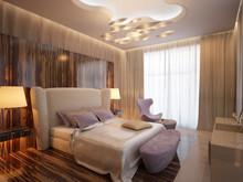 Квартира «Пентхаус в ЖК Андреевский», спальня . Фото № 30154, автор Качалов Иван