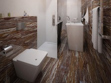 Квартира «Пентхаус в ЖК Андреевский», санузел . Фото № 30162, автор Качалов Иван