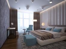 Квартира «Пентхаус в ЖК Андреевский», спальня . Фото № 30161, автор Качалов Иван