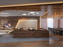 Квартира «Пентхаус в ЖК Андреевский», кухня . Фото № 30157, автор Качалов Иван