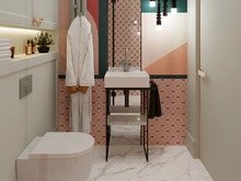 Квартира «Дизайн-проект квартиры в г. Санкт-Петербург», ванная . Фото № 30183, автор Троилова Арина