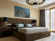 Квартира «Пентхаус в ЖК Литератор», спальня . Фото № 30186, автор Качалов Иван