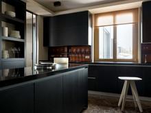 Квартира «Пентхаус в ЖК Литератор», кухня . Фото № 30190, автор Качалов Иван