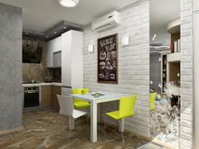 Квартира «Квартира для молодой девушки», кухня . Фото № 30207, автор Борисов Вячеслав