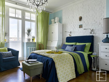 Квартира «Квартира на улице Строителей», спальня . Фото № 30218, автор Зольтманн Инна