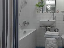 Квартира «Квартира на улице Строителей», ванная . Фото № 30223, автор Зольтманн Инна