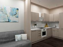 Квартира «Кухня-гостиная со сложной - игра цвета», кухня . Фото № 30365, автор Тарасова Анастасия