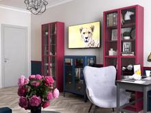 Квартира «Трехкомнатная квартира в стиле Фьюжн», кабинет . Фото № 30381, автор Хачатрян Дарья