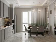 Квартира «Трехкомнатная квартира в стиле Фьюжн», кухня . Фото № 30382, автор Хачатрян Дарья