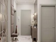 Квартира «Трехкомнатная квартира в стиле Фьюжн», холл . Фото № 30385, автор Хачатрян Дарья