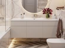 Квартира «Трехкомнатная квартира в стиле Фьюжн», ванная . Фото № 30383, автор Хачатрян Дарья