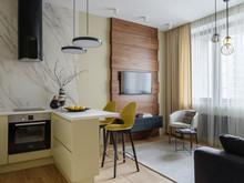 Квартира «Квартира в ЖК Red side, 48 кв.м», кухня . Фото № 30389, автор Каманина Юлия