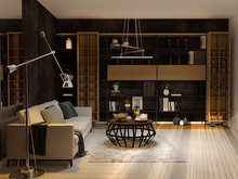 Квартира «-LOFT-», гостиная . Фото № 30414, автор Остроухова Татьяна