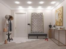 Квартира «Дизайн-проект 3-х комнатной квартиры», прихожая . Фото № 30429, автор Багдасарян Арпине