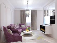 Квартира «Дизайн-проект 3-х комнатной квартиры», гостиная . Фото № 30425, автор Багдасарян Арпине