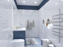 Квартира «Дизайн-проект 3-х комнатной квартиры», ванная . Фото № 30428, автор Багдасарян Арпине