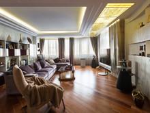Квартира «Реновация семейного очага», гостиная . Фото № 30453, автор Серов Егор