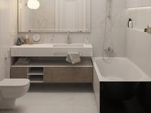 Квартира «Простые истины», ванная . Фото № 30459, автор Дюжева Вероника